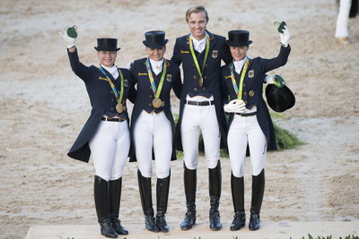 Team Germany arrive at the Tokyo 2020 Olympic Games as defending champions and strong favourites to do it all over again. © FEI/Richard Juilliart
