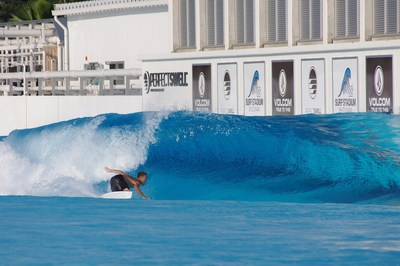 Shun Murakami bottom turning to set up his next maneuver in preparation for surfing's Olympic debut.